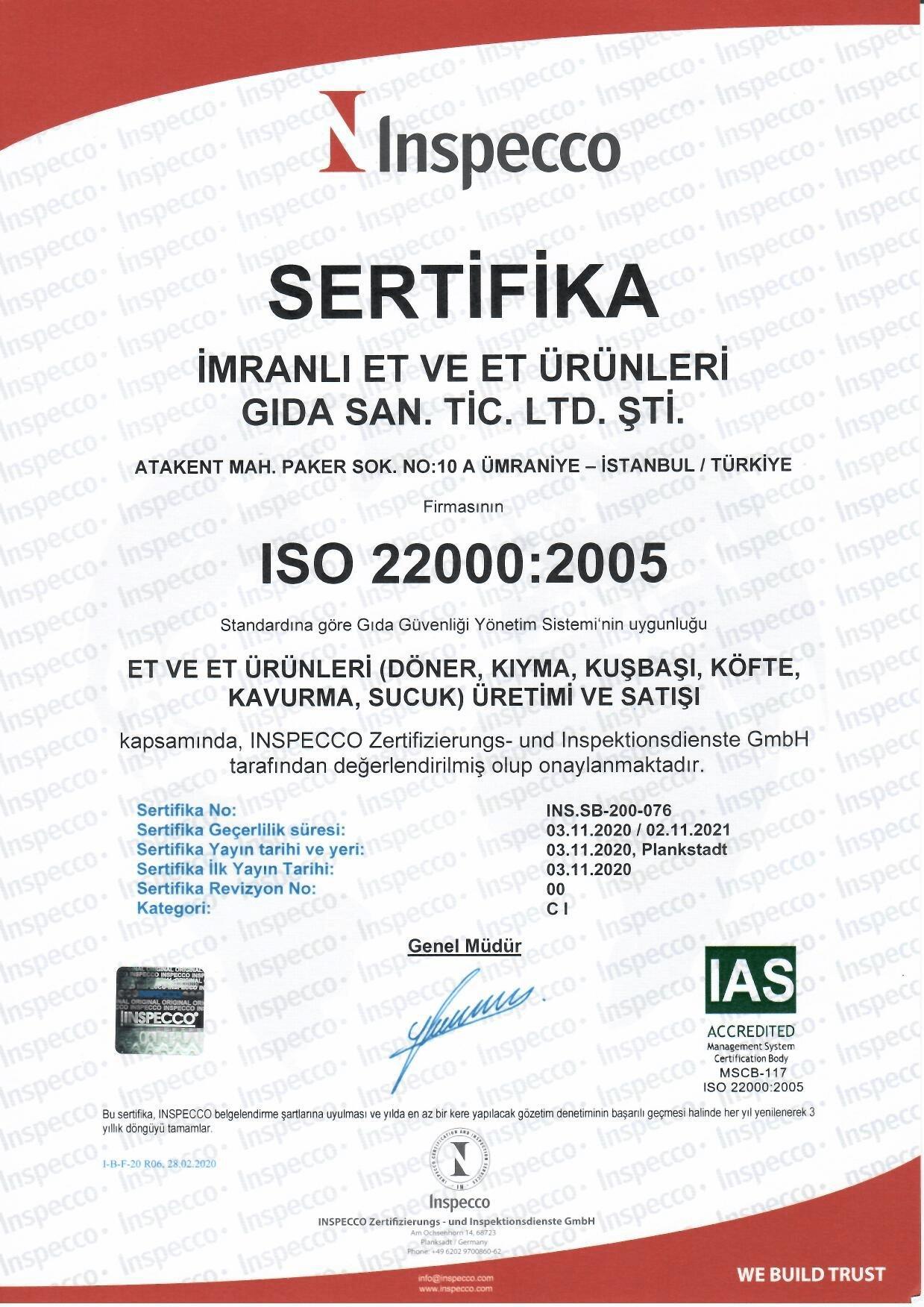 ISO 22000-2005 BELGESİ 2020-2021-1